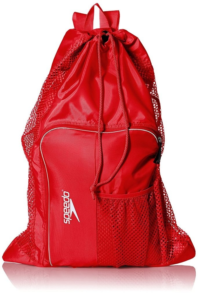 Red Speedo Deluxe Ventilator Mesh Bag BACK TO SCHOOL