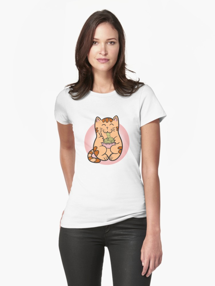 'Kawaii Japanese Anime Cat Ramen Shirt' T-Shirt by Dogvills