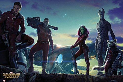 "Guardians Of The Galaxy - Movie Poster (The Guardians) (Size: 36"" x 24"")"