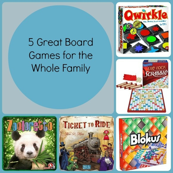 5 Great Board Games for the Whole Family