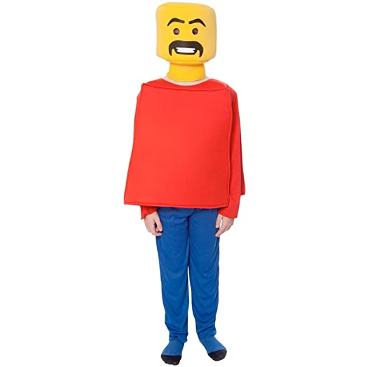 Morphsuits Mr Block Head Kids Costume (Age 6 to 8), Small