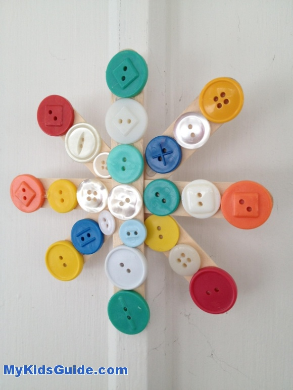 Window Snowflake Craft for Kids