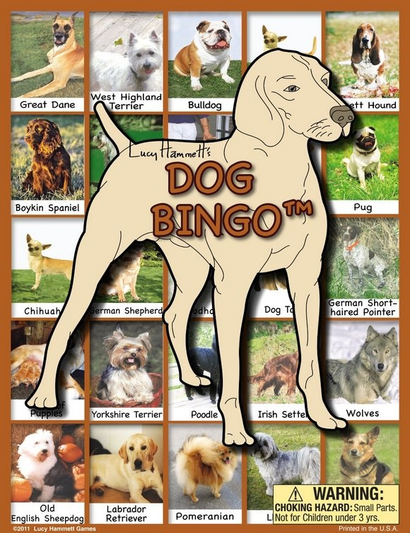 Dog Games for Kids: Dog Bingo