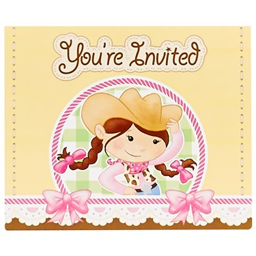 Pink Cowgirl Invitations (8) pink cowgirl party ideas