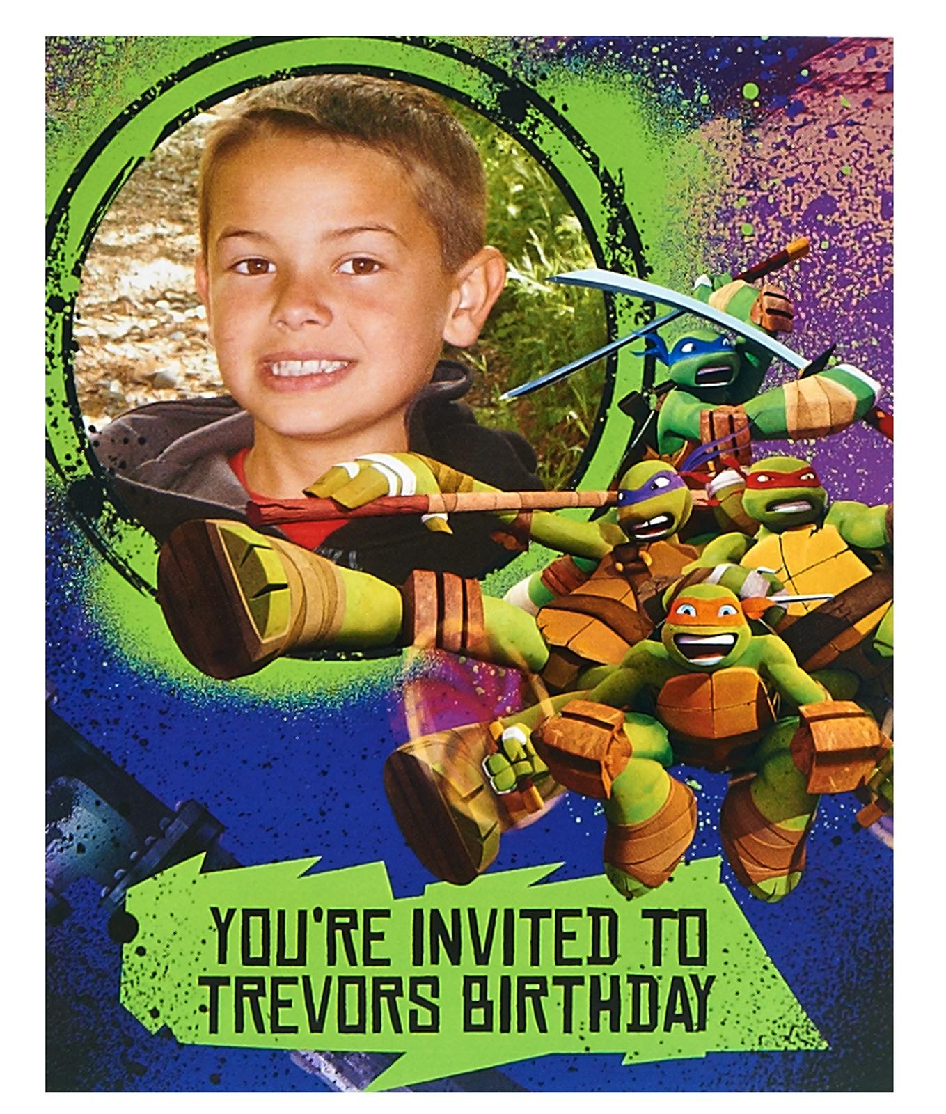 Teenage Mutant Ninja Turtles Party Supplies: Personalized Invites