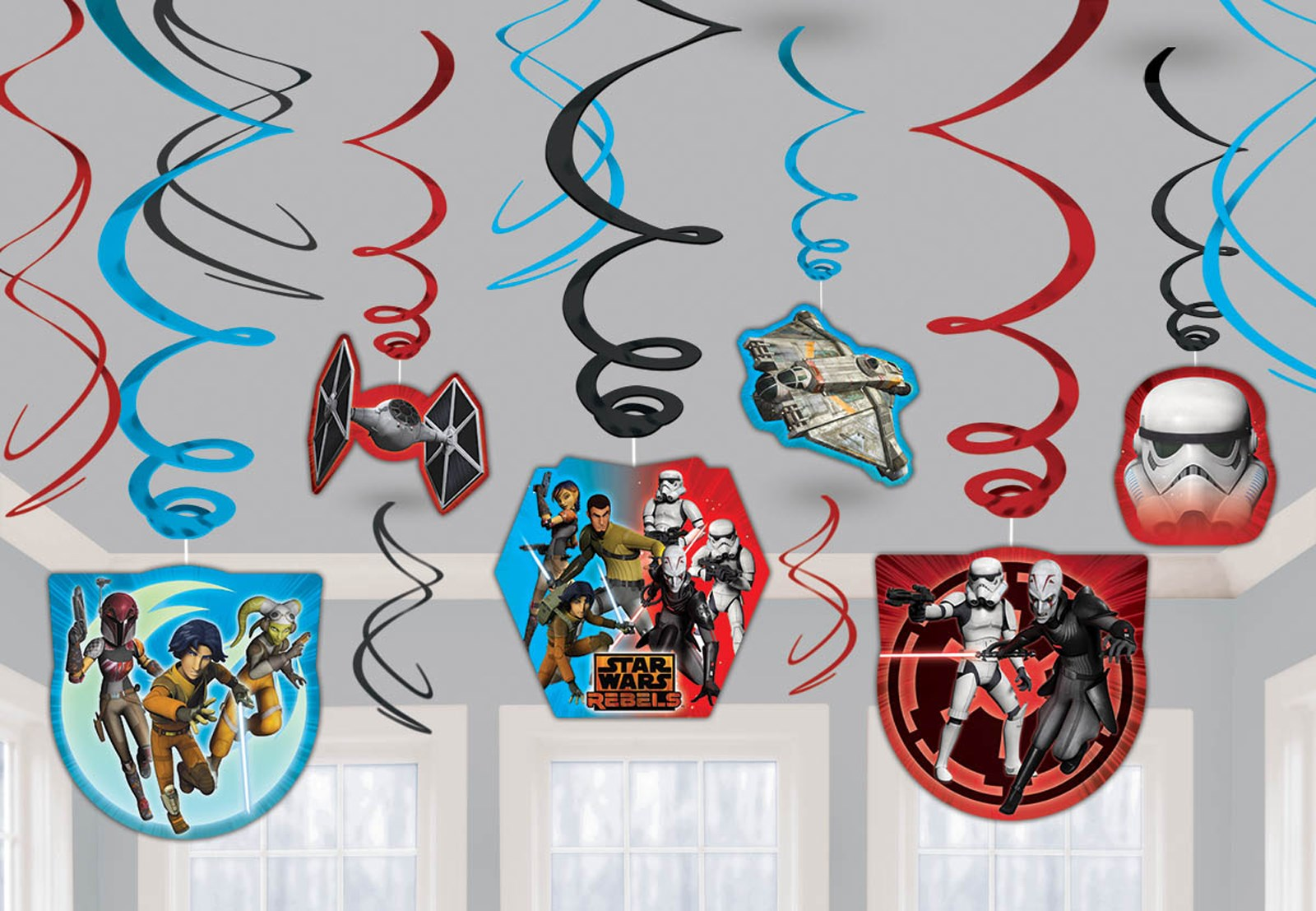 Star Wars Rebels party Swirl Decorations (12)