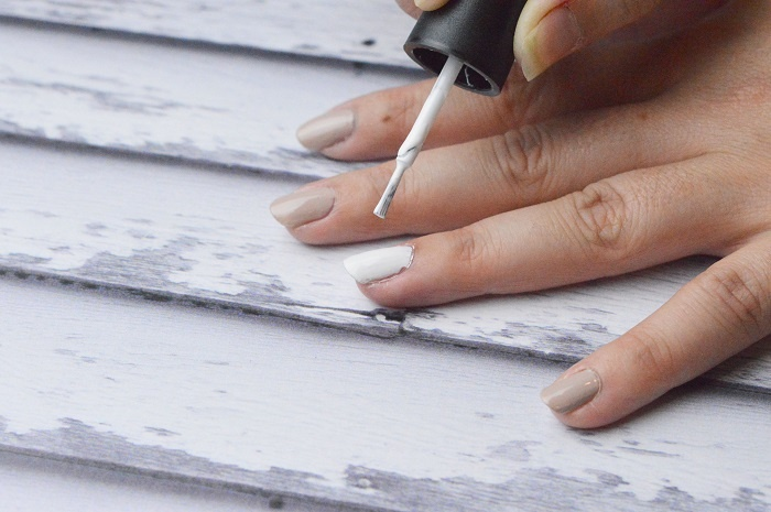 Beach Waves Nail Art Design: Paint Your Base Colors