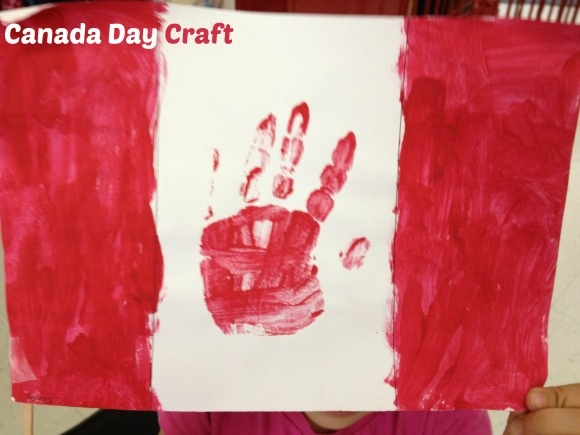 Canada Day Craft For Kids: Make Your Own Handprint Canadian Flag!
