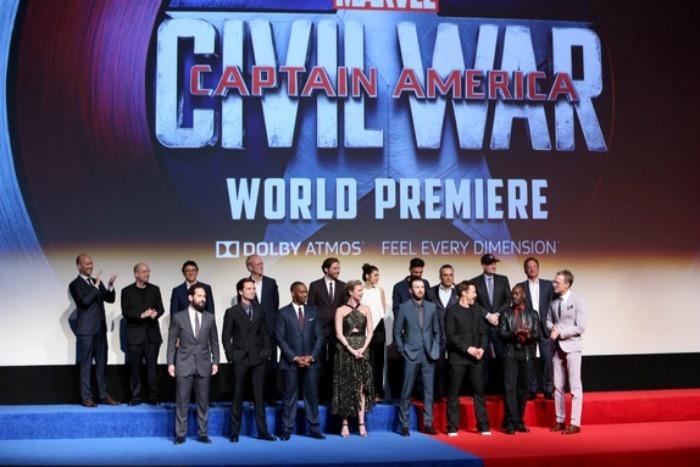Captain America Cast at the LA Premiere Of Captain America: Civil War