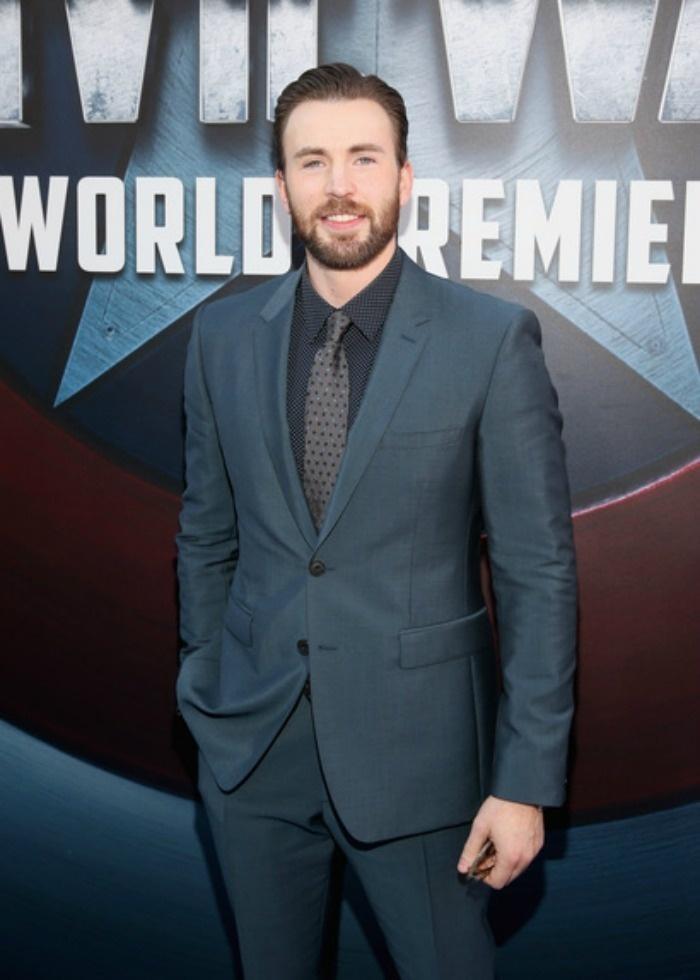 Chris Evans at the LA Premiere Of Captain America: Civil War
