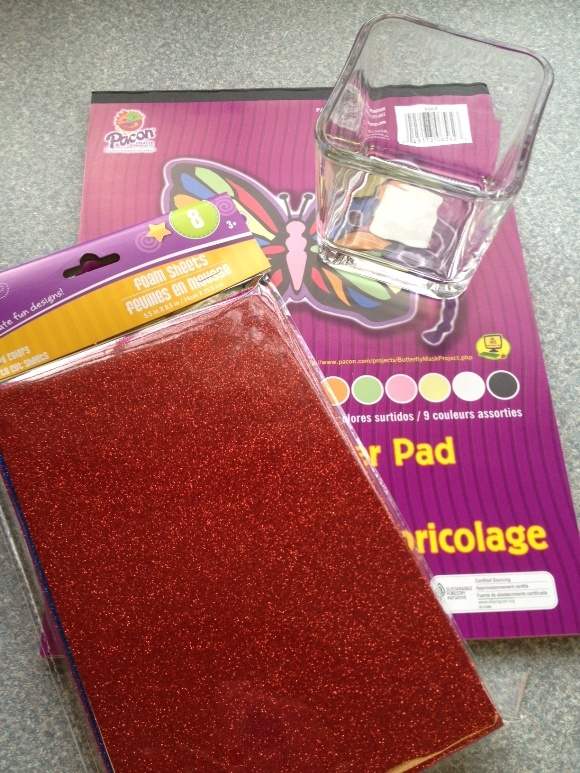 supplies for this easy Christmas Craft for Kids