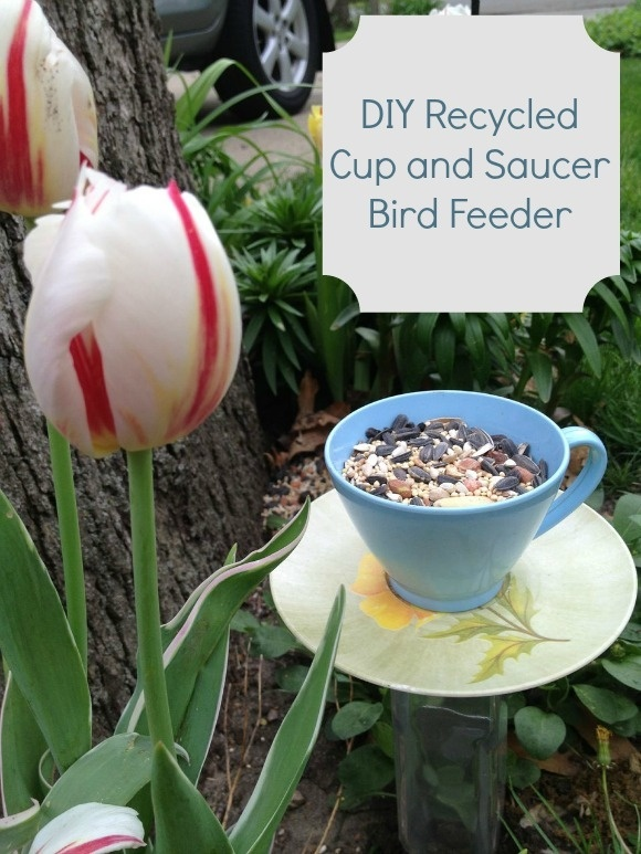 Spring Craft for Kids: DIY Recycled Cup and Saucer Bird Feeder!