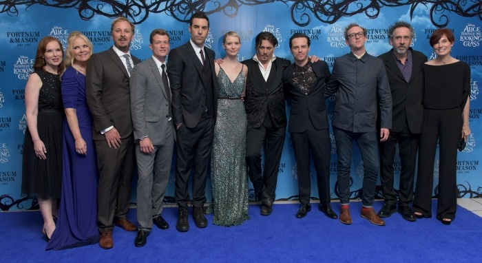 The Cast And Producers Of Alice In Wonderland Through The Looking Glass At the London Movie Premiere
