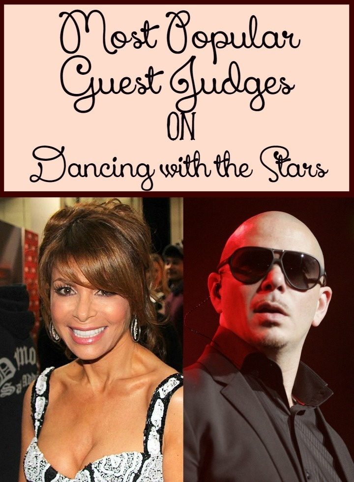 Dancing with the Stars has had it's share of popular guest judges! Check out a few of the best over the years!