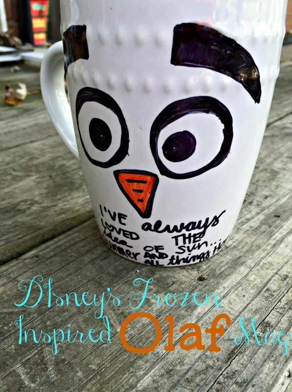 Olaf Mug Easy Snowman Winter Crafts for Kids