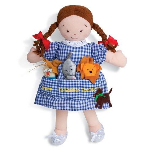 Wizard of Oz Toys for Preschoolers: North American Bear Dolly Pockets The Wonderful Wizard of Oz Plush