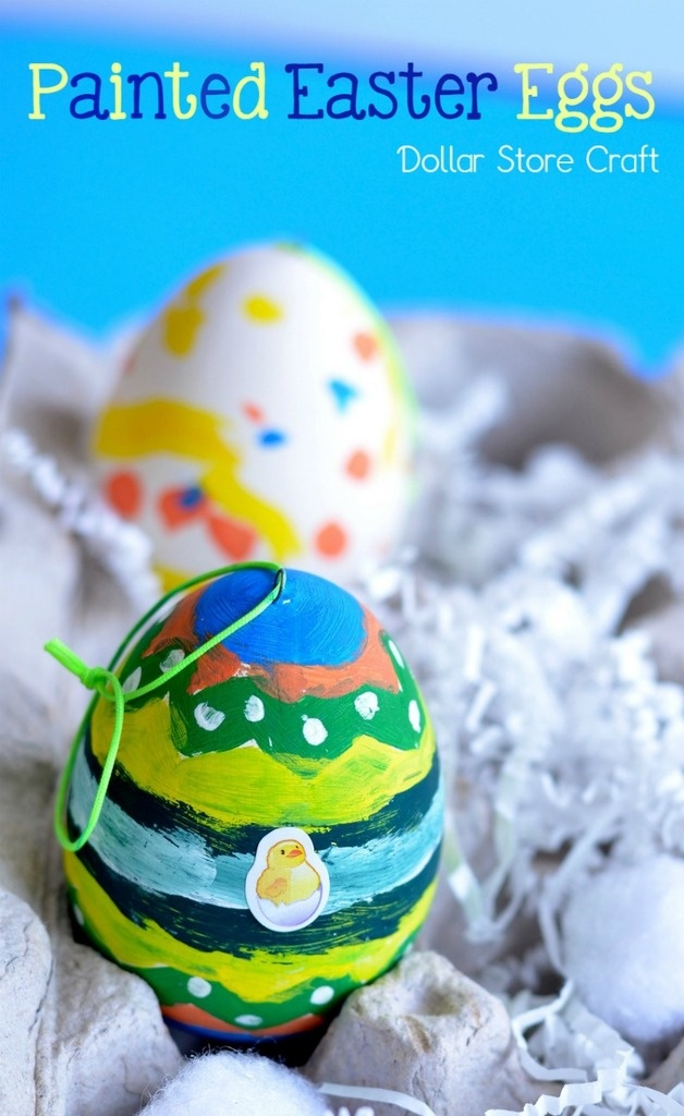 Are you looking for an easy Easter craft for  kids that they can make by themselves? Look no more, try this Dollar store craft with your little ones and they will have a blast.