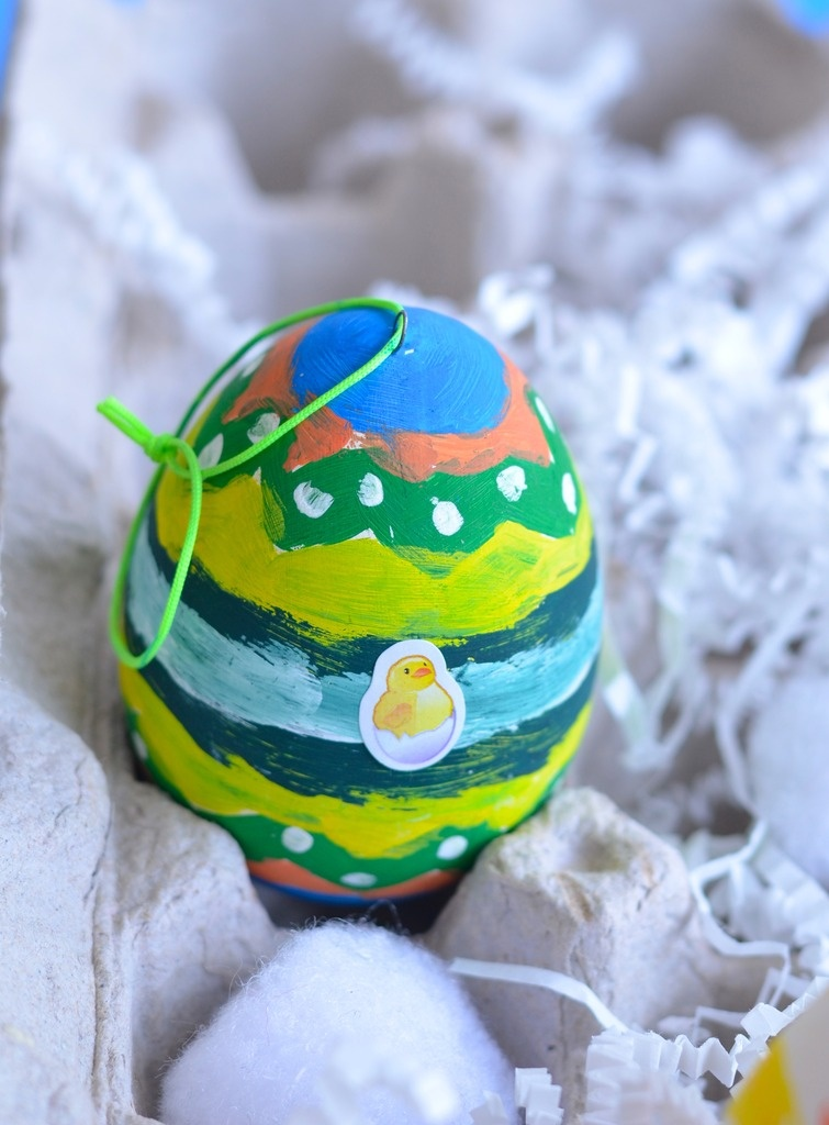 Painted Eggs Easter Craft for Kids