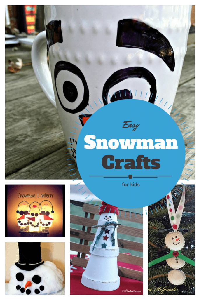 Looking for some fun Easy Snowman Winter Crafts for kids? We've rounded up a few of our favorites that will keep your kids busy all winter long!