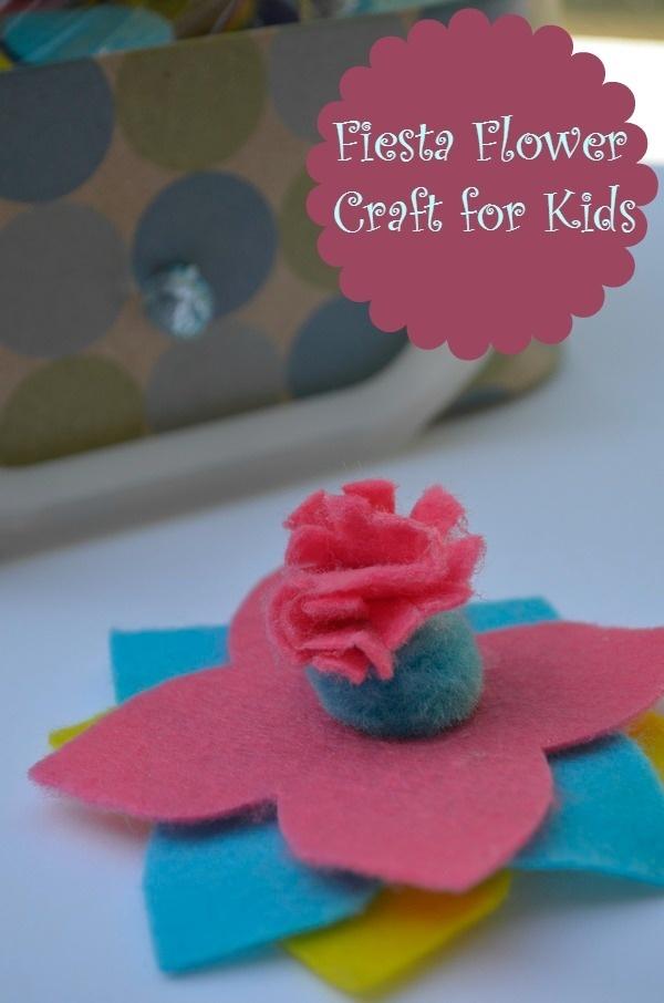 Fiesta Flower Craft for Kids