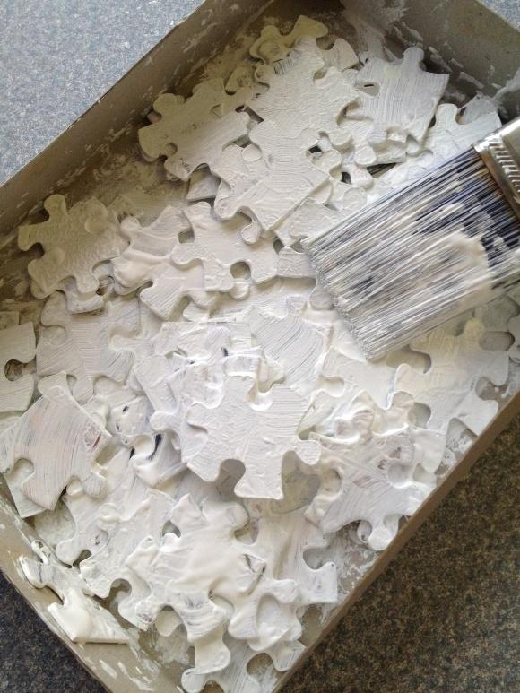 Disney's Frozen Craft for Kids: Puzzle Piece Snowflake Ornaments