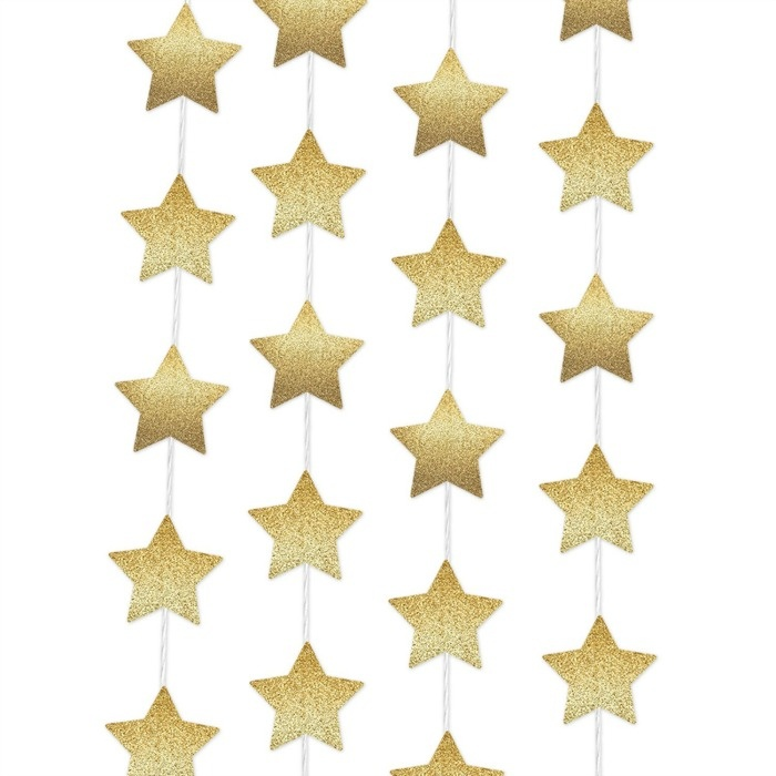 Glitter Star Garland! 7 Of The Best Ideas For A Glamorous Hollywood Party On A Shoestring Budget