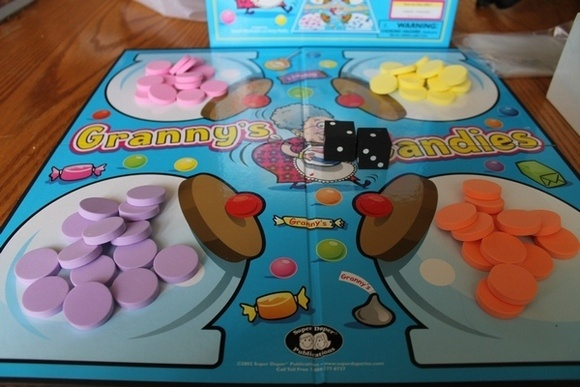 Daddy Camp for Kids: Playing board games during down time