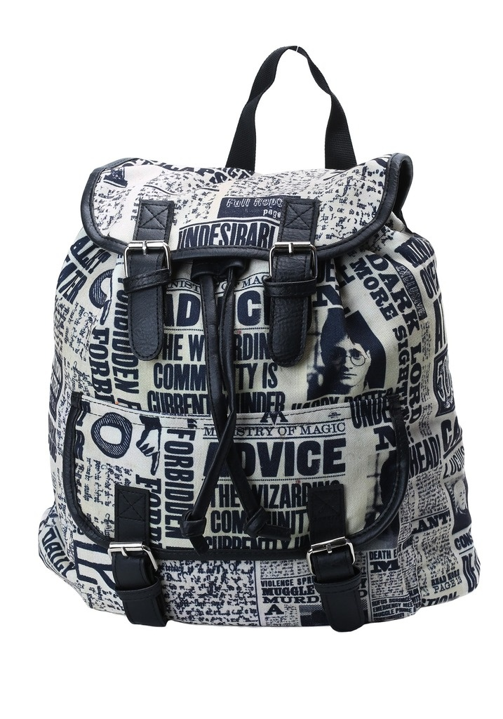 HARRY POTTER DAILY PROPHET KNAPSACK