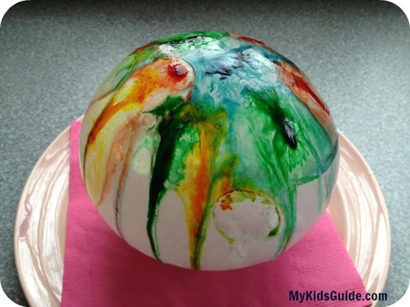 Ice Ball Painting: A Fun Preschooler Craft