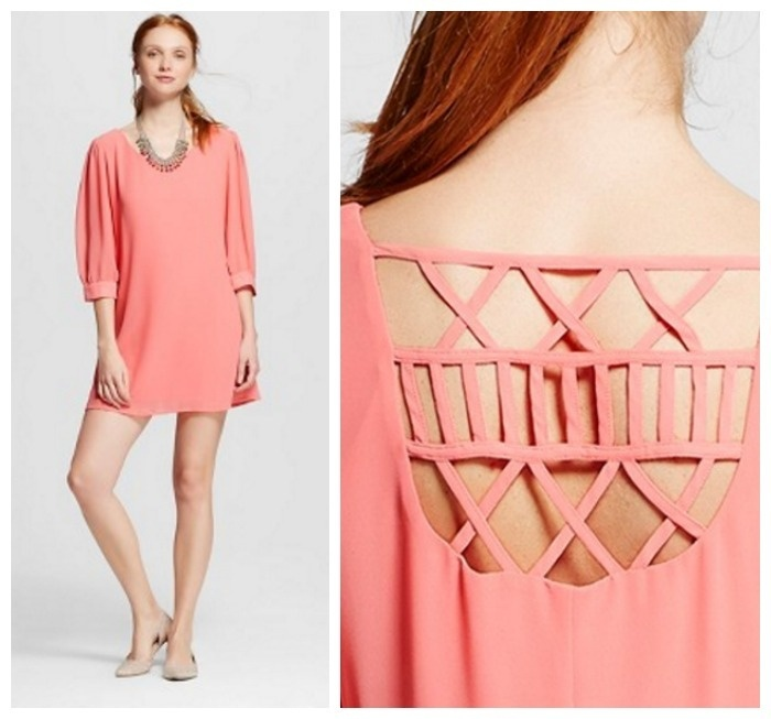 Graduation Dress Idea: Lattice Back Shift Dress