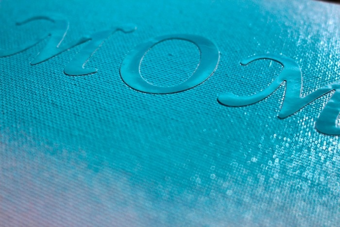 DIY Mother's Day Gift: Carefully add the blue paint to your Mom canvas.
