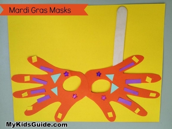 Winter activities for kids: Mardi Gras Mask