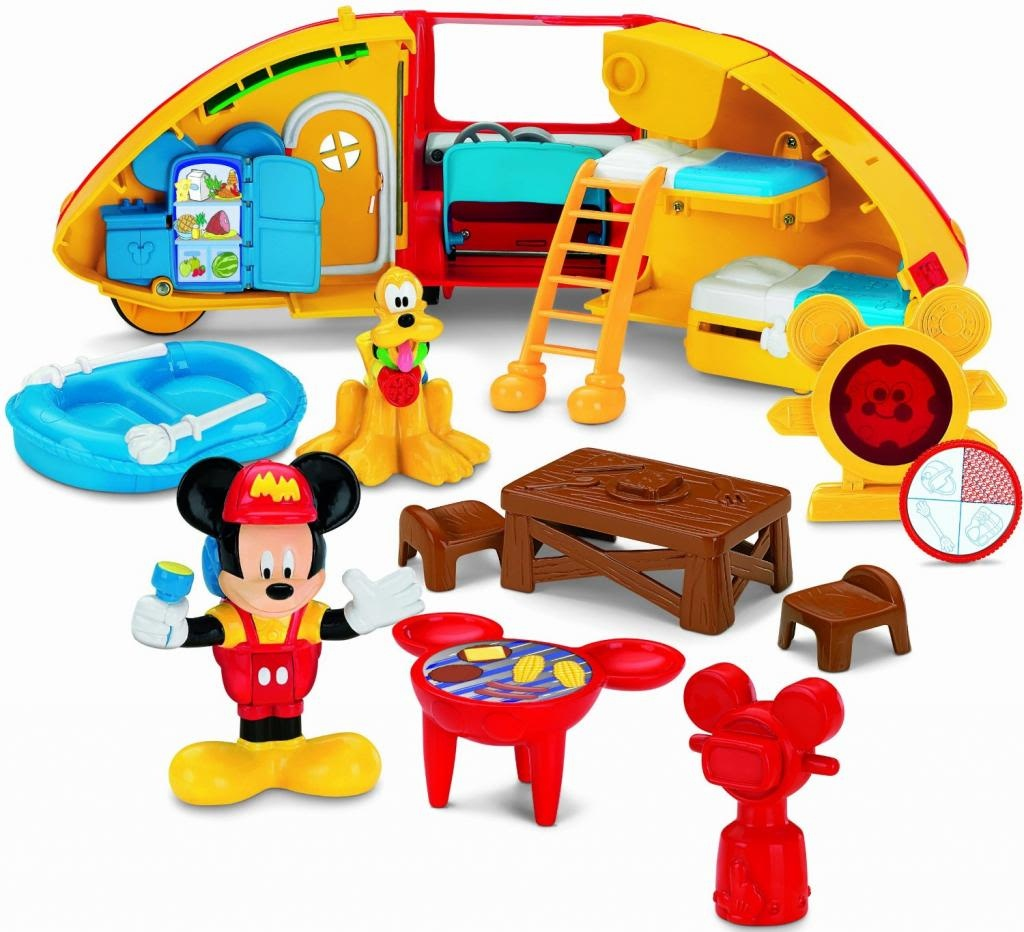 Camping toys for toddlers: Mickey Mouse camping playset