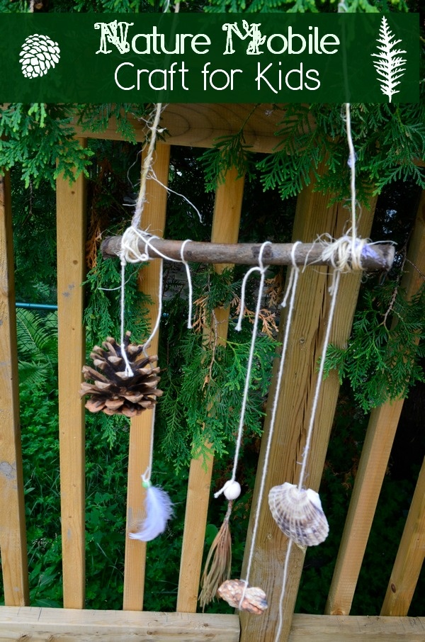 Turn a Family Scavenger Hunt into a Nature Mobile Fall Craft for Kids