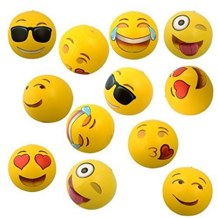 Summer Pool Party Ideas: Emoji Beach Balls