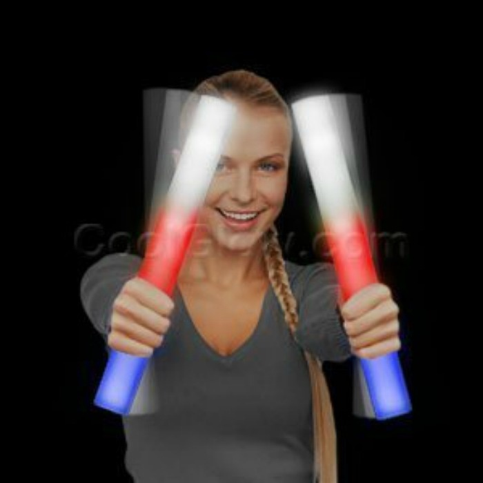 Fourth Of July Glow Party Ideas For Teens: Light Batons Red White And Blue For Dancing