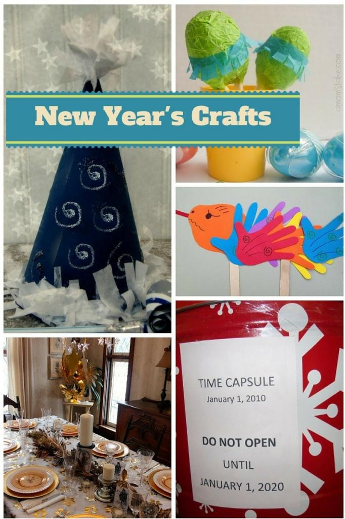 Countdown to midnight with these fun New Year's Crafts for kids! No need to wait until the ball drops on New Year's Eve, start having crafting fun now!