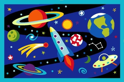 Play with all those space toys for toddlers on this awesome rug!