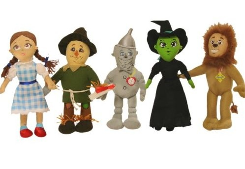 "Wizard of Oz Toys for Preschoolers: Wizard of Oz 12"" Plush Set:"