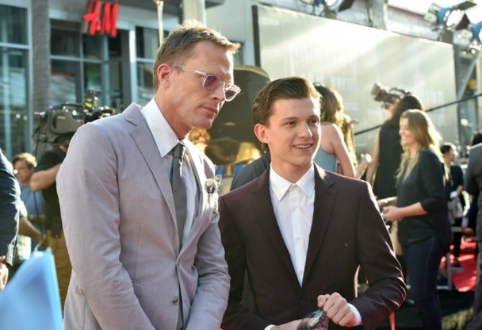 Paul Bettany and Tom Holland at the LA Premiere Of Captain America: Civil War