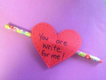 Valentine's Day Crafts for Kids: DIY Pencil Toppper