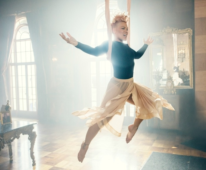 Pink In The Music Video Just Like Fire Which Is Featured In The New Alice In Wonderland Through The Looking Glass Movie
