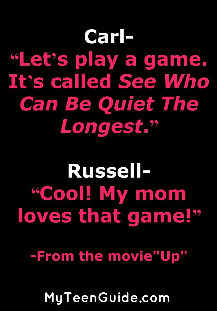 Quotes from the Movie Up: The Quiet Game