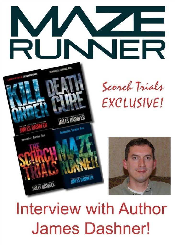 See our exclusive interview with James Dashner, author of The Maze Runner: The Scorch Trials for insider details on the movie and books!
