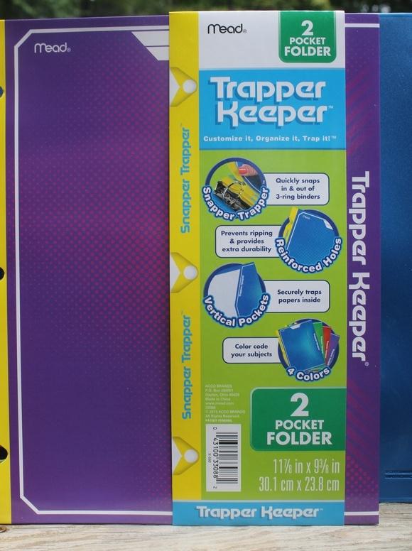 Back to school with Trapper Keeper: 2 Pocket Folder