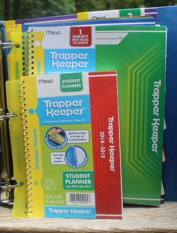 Back to school with Trapper Keeper Binder Review: Inside view of the binder