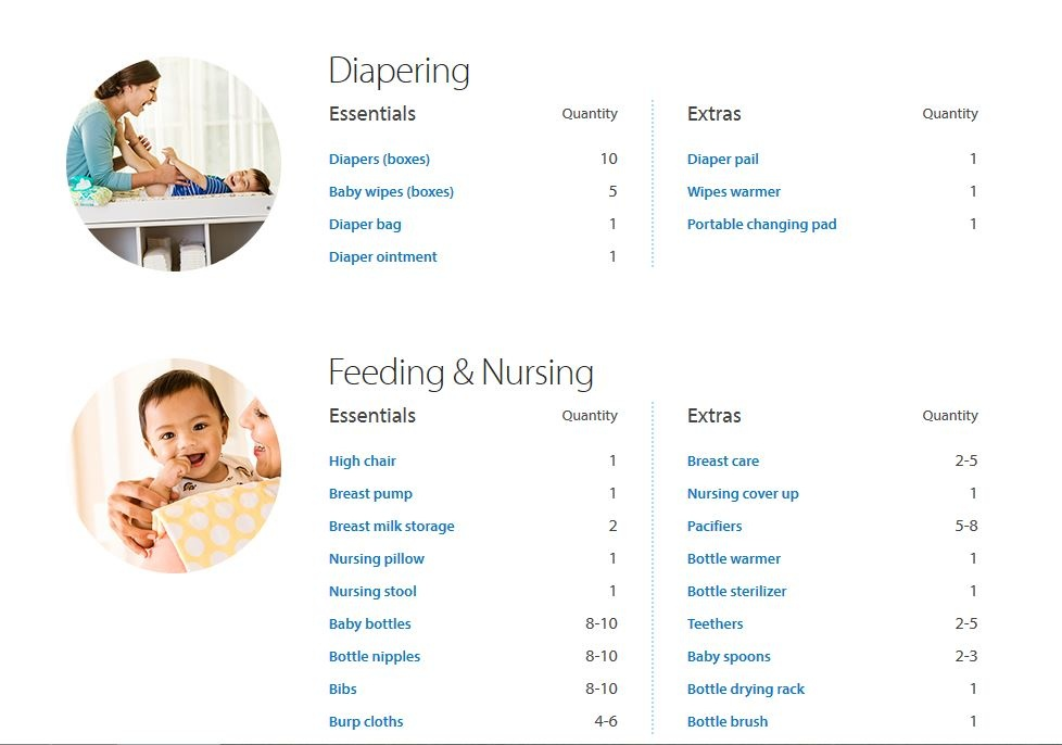 Create the Ultimate Baby Registry with Walmart & Pampers