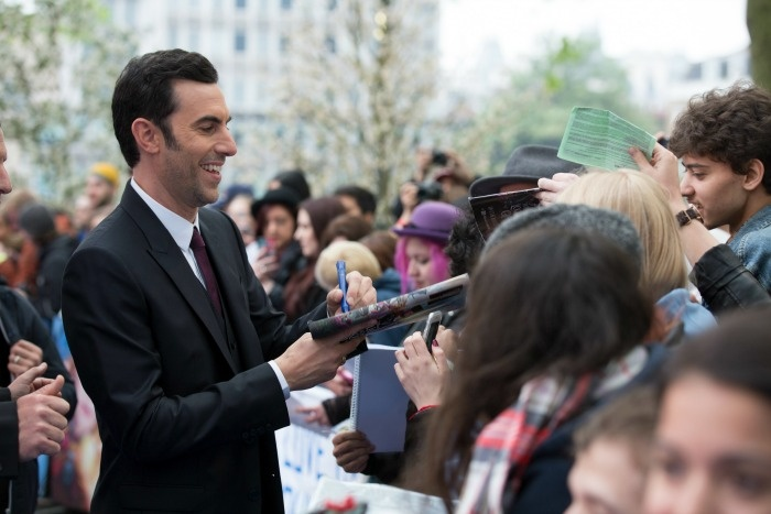 Sacha Baron Cohen (Time) at the London movie premiere of Alice In Wonderland Through The Looking Glass