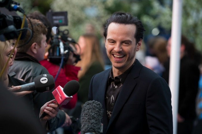 At The UK Movie Premiere of Alice In Wonderland Through The Looking Glass: Andrew Scott (Addison Bennett)