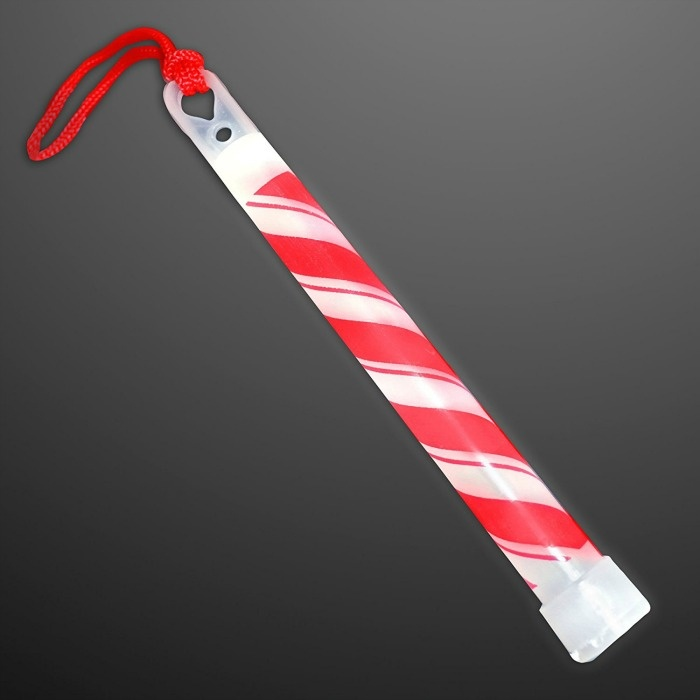 7 Glow In The Dark Christmas Party Ideas That Will Make You Want To Rock Around The Tree: Candy Cane Glow Stick